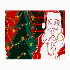 Santa Clause Xmas Small Glasses Cloth (2 Side) by Nexatart