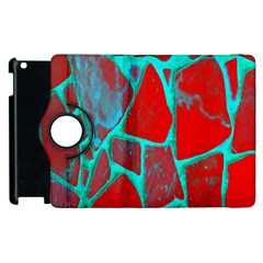 Red Marble Background Apple Ipad 2 Flip 360 Case by Nexatart