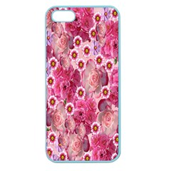 Roses Flowers Rose Blooms Nature Apple Seamless Iphone 5 Case (color)