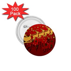 Santa Christmas Claus Winter 1 75  Buttons (100 Pack)  by Nexatart