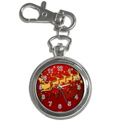 Santa Christmas Claus Winter Key Chain Watches by Nexatart