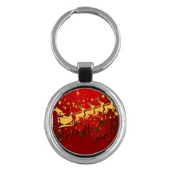 Santa Christmas Claus Winter Key Chains (round)