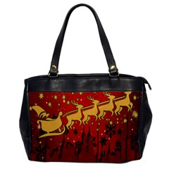 Santa Christmas Claus Winter Office Handbags by Nexatart