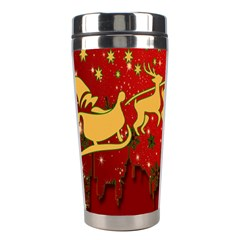 Santa Christmas Claus Winter Stainless Steel Travel Tumblers by Nexatart