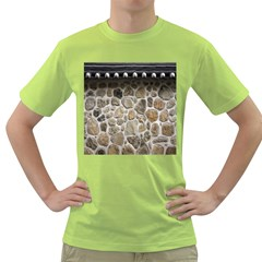 Roof Tile Damme Wall Stone Green T Shirt