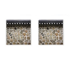 Roof Tile Damme Wall Stone Cufflinks (square) by Nexatart