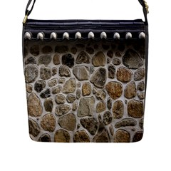 Roof Tile Damme Wall Stone Flap Messenger Bag (l)