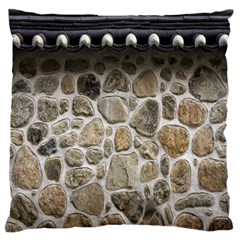 Roof Tile Damme Wall Stone Large Flano Cushion Case (two Sides) by Nexatart
