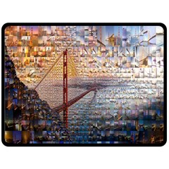 San Francisco Double Sided Fleece Blanket (large)  by Nexatart