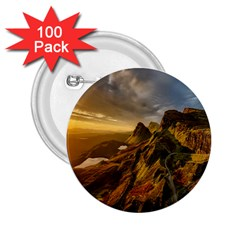 Scotland Landscape Scenic Mountains 2 25  Buttons (100 Pack)  by Nexatart