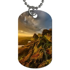 Scotland Landscape Scenic Mountains Dog Tag (two Sides)