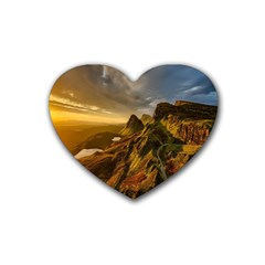 Scotland Landscape Scenic Mountains Heart Coaster (4 Pack)
