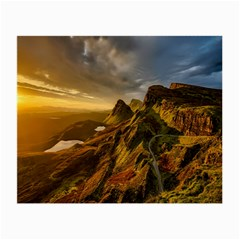 Scotland Landscape Scenic Mountains Small Glasses Cloth (2 Side) by Nexatart