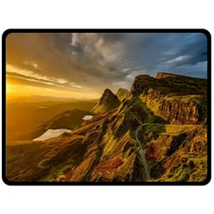 Scotland Landscape Scenic Mountains Double Sided Fleece Blanket (large)