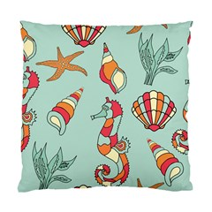 Seahorse Seashell Starfish Shell Standard Cushion Case (two Sides) by Nexatart
