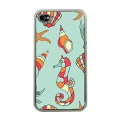 Seahorse Seashell Starfish Shell Apple Iphone 4 Case (clear) by Nexatart