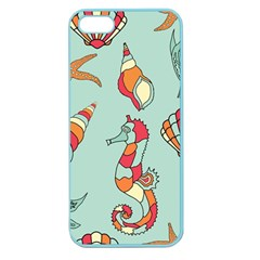 Seahorse Seashell Starfish Shell Apple Seamless Iphone 5 Case (color) by Nexatart