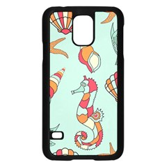Seahorse Seashell Starfish Shell Samsung Galaxy S5 Case (black) by Nexatart