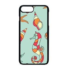 Seahorse Seashell Starfish Shell Apple Iphone 7 Plus Seamless Case (black) by Nexatart