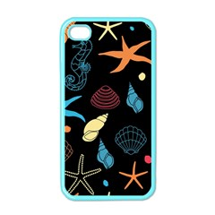 Seahorse Starfish Seashell Shell Apple Iphone 4 Case (color) by Nexatart