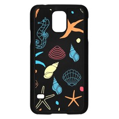 Seahorse Starfish Seashell Shell Samsung Galaxy S5 Case (black) by Nexatart