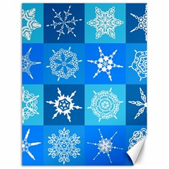 Seamless Blue Snowflake Pattern Canvas 12  X 16   by Nexatart