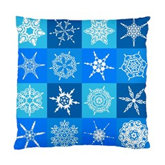 Seamless Blue Snowflake Pattern Standard Cushion Case (one Side) by Nexatart