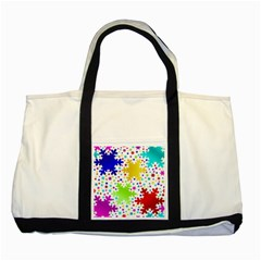 Seamless Snowflake Pattern Two Tone Tote Bag by Nexatart