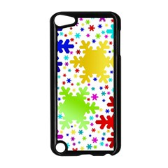 Seamless Snowflake Pattern Apple Ipod Touch 5 Case (black) by Nexatart