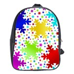 Seamless Snowflake Pattern School Bags (XL)  Front