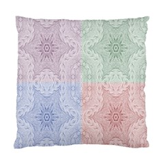 Seamless Kaleidoscope Patterns In Different Colors Based On Real Knitting Pattern Standard Cushion Case (two Sides) by Nexatart