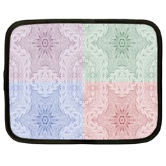 Seamless Kaleidoscope Patterns In Different Colors Based On Real Knitting Pattern Netbook Case (xxl)  by Nexatart