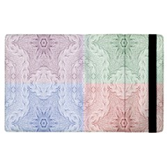 Seamless Kaleidoscope Patterns In Different Colors Based On Real Knitting Pattern Apple Ipad 3/4 Flip Case
