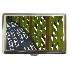Shadow Reflections Casting From Japanese Garden Fence Cigarette Money Cases