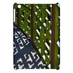 Shadow Reflections Casting From Japanese Garden Fence Apple Ipad Mini Hardshell Case