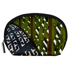 Shadow Reflections Casting From Japanese Garden Fence Accessory Pouches (large)  by Nexatart