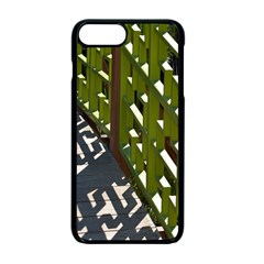 Shadow Reflections Casting From Japanese Garden Fence Apple Iphone 7 Plus Seamless Case (black)