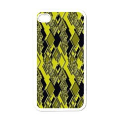 Seamless Pattern Background Seamless Apple Iphone 4 Case (white)