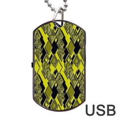 Seamless Pattern Background Seamless Dog Tag Usb Flash (two Sides) by Nexatart