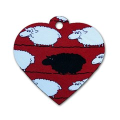 Sheep Dog Tag Heart (one Side) by Nexatart