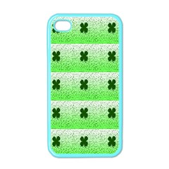 Shamrock Pattern Apple Iphone 4 Case (color) by Nexatart