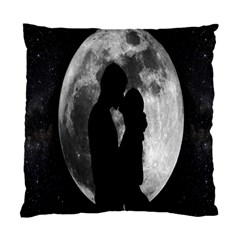 Silhouette Of Lovers Standard Cushion Case (one Side) by Nexatart