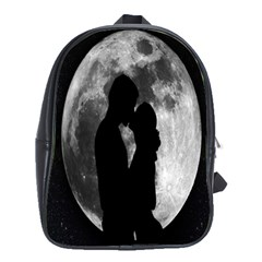 Silhouette Of Lovers School Bags(large)  by Nexatart