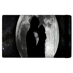 Silhouette Of Lovers Apple Ipad 2 Flip Case