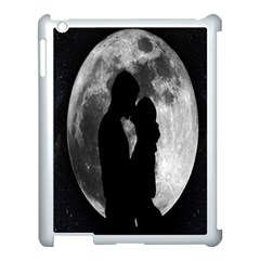 Silhouette Of Lovers Apple Ipad 3/4 Case (white) by Nexatart