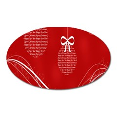 Simple Merry Christmas Oval Magnet by Nexatart