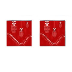 Simple Merry Christmas Cufflinks (square) by Nexatart