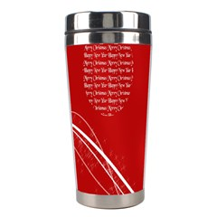 Simple Merry Christmas Stainless Steel Travel Tumblers by Nexatart