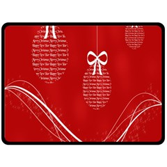 Simple Merry Christmas Double Sided Fleece Blanket (large)  by Nexatart