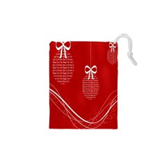 Simple Merry Christmas Drawstring Pouches (xs)  by Nexatart